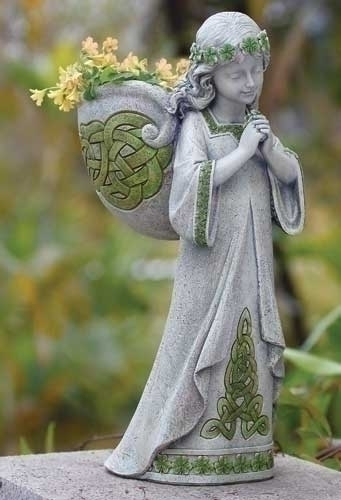 15-inch H Irish Angel Planter