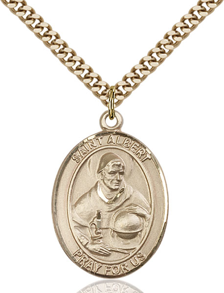 Gold-Filled St. Albert the Great Pendant