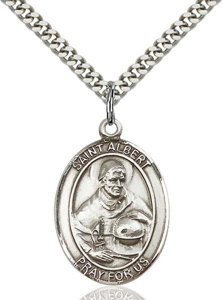 Sterling Silver St. Albert the Great Pendant