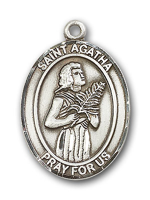 Sterling Silver St. Agatha Pendant