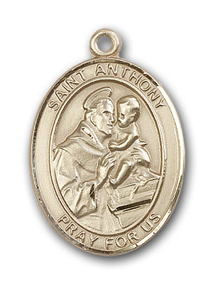 14K Gold St. Anthony of Padua Pendant
