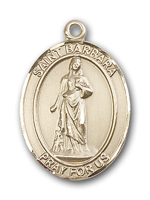 14K Gold St. Barbara Pendant
