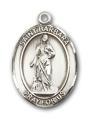 Sterling Silver St. Barbara Pendant