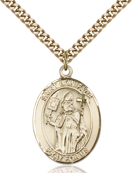 Gold-Filled St. Boniface Pendant