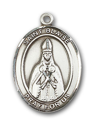 Sterling Silver St. Blaise Pendant