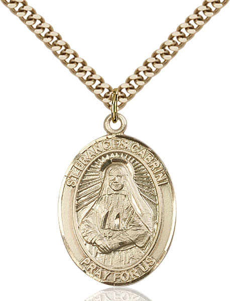Gold-Filled St. Frances Cabrini Pendant