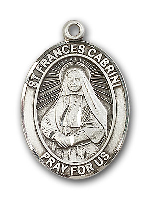 Sterling Silver St. Frances Cabrini Pendant