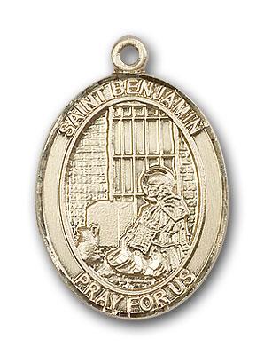 14K Gold St. Benjamin Pendant