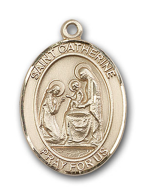 14K Gold St. Catherine of Siena Pendant