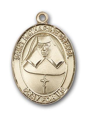 14K Gold St. Katharine Drexel Pendant