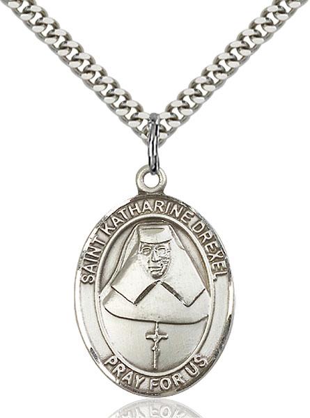 Sterling Silver St. Katharine Drexel Pendant