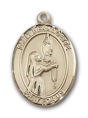 14K Gold St. Bernadette Pendant