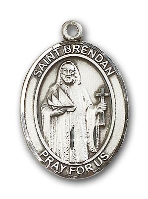Sterling Silver St. Brendan the Navigator Pendant