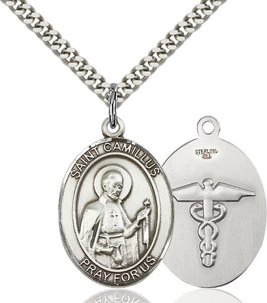 Sterling Silver St. Camillus of Lellis Pendant