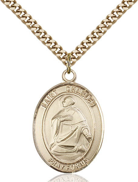 Gold-Filled St. Charles Borromeo Pendant