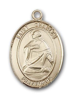 14K Gold St. Charles Borromeo Pendant