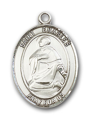 Sterling Silver St. Charles Borromeo Pendant