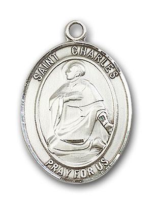 Sterling Silver St. Charles Borromeo Pendant