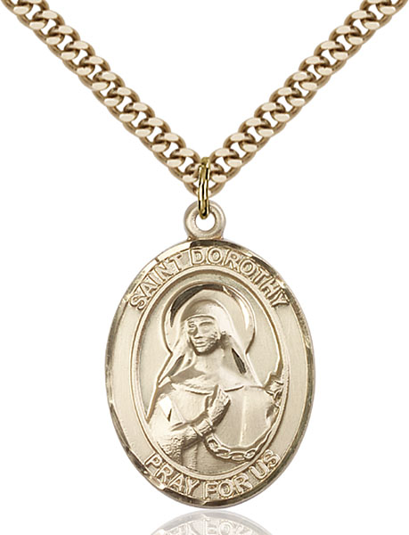 Gold-Filled St. Dorothy Pendant