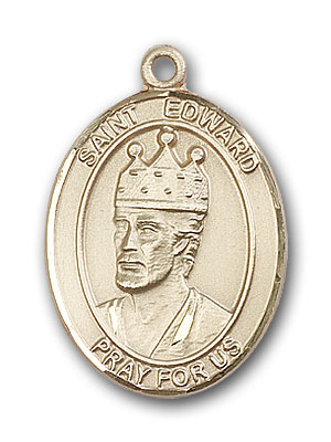 14K Gold St. Edward the Confessor Pendant