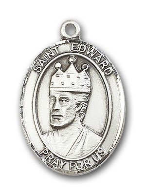 Sterling Silver St. Edward the Confessor Pendant