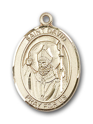 Gold-Filled St. David of Wales Pendant