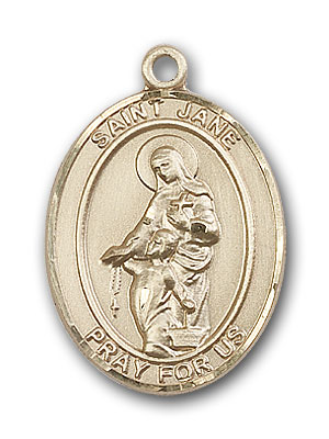 14K Gold St. Jane of Valois Pendant