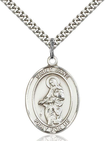 Sterling Silver St. Jane of Valois Pendant