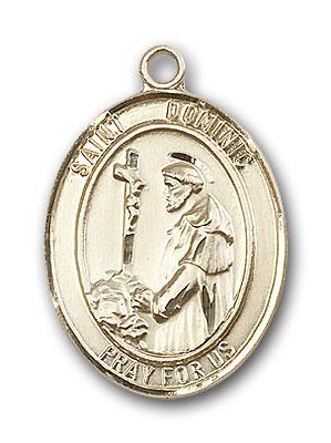 14K Gold St. Dominic de Guzman Pendant