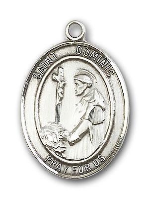 Sterling Silver St. Dominic de Guzman Pendant
