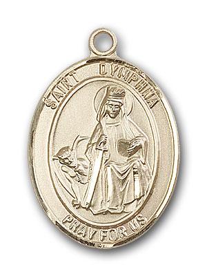 Gold-Filled St. Dymphna Pendant