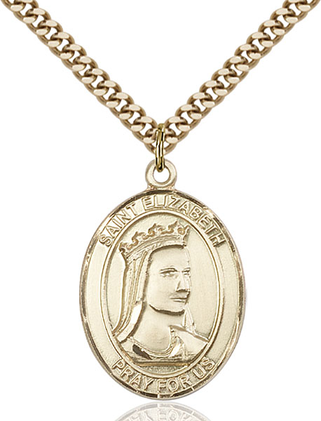 Gold-Filled St. Elizabeth of Hungary Pendant