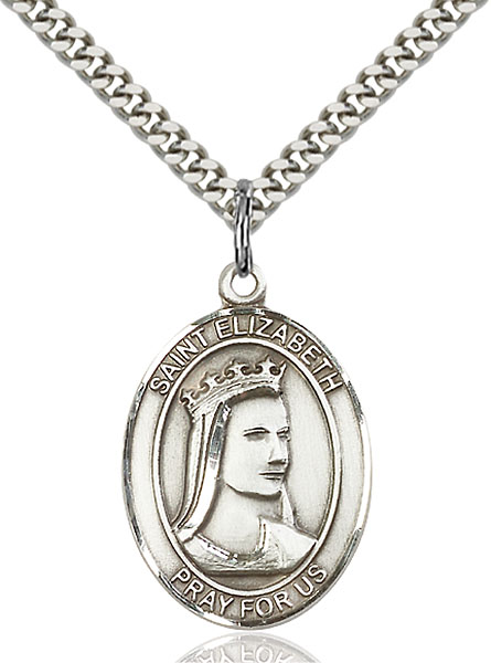 Sterling Silver St. Elizabeth of Hungary Pendant