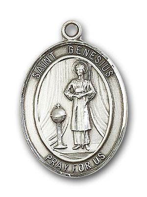 Sterling Silver St. Genesius of Rome Pendant