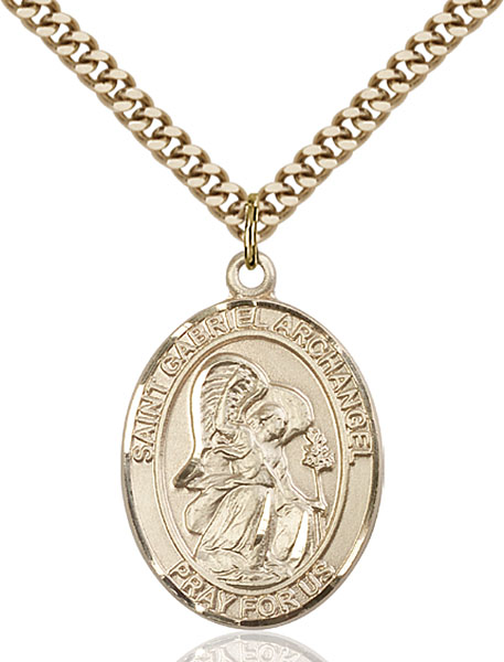Gold-Filled St. Gabriel the Archangel Pendant