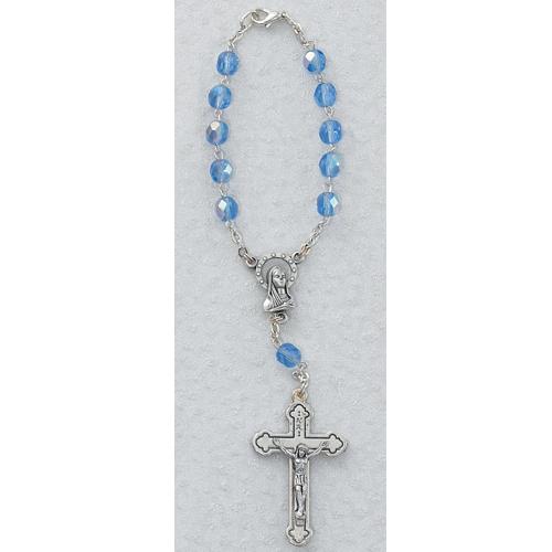 Zircon/Dec Auto Rosary/Carded