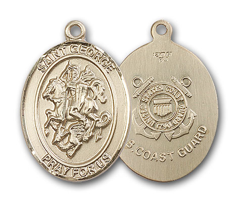 14K Gold St. George Pendant