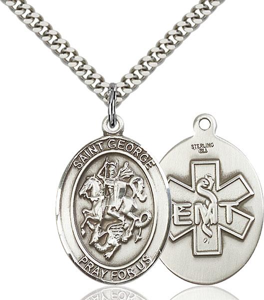 Sterling Silver St. George Emt Pendant
