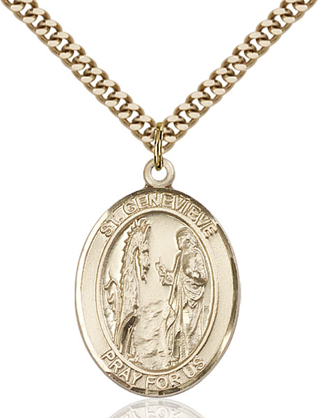 Gold-Filled St. Genevieve Pendant