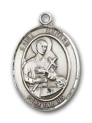 Sterling Silver St. Gerard Majella Pendant
