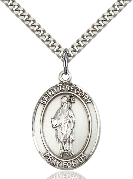 Sterling Silver St. Gregory the Great Pendant