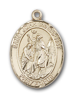 14K Gold St. John the Baptist Pendant