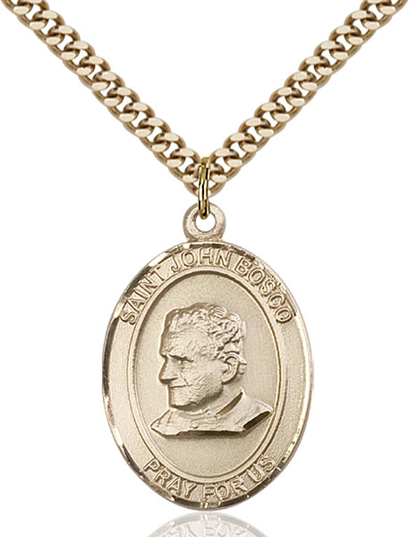 Gold-Filled St. John Bosco Pendant