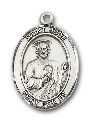 Sterling Silver St. Jude Thaddeus Pendant
