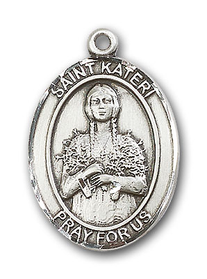 Sterling Silver St. Kateri Pendant