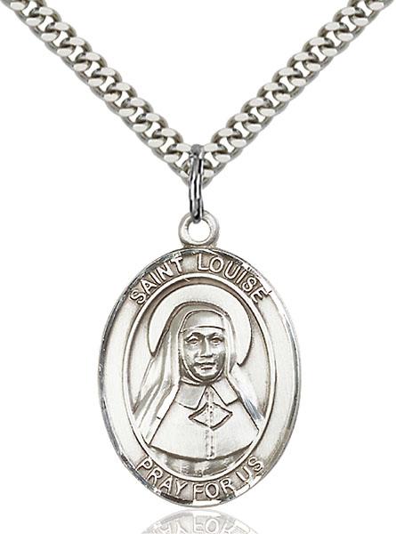 Sterling Silver St. Louise de Marillac Pendant
