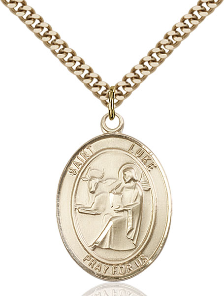 Gold-Filled St. Luke the Apostle Pendant