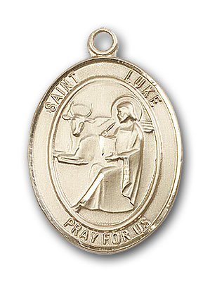 14K Gold St. Luke the Apostle Pendant