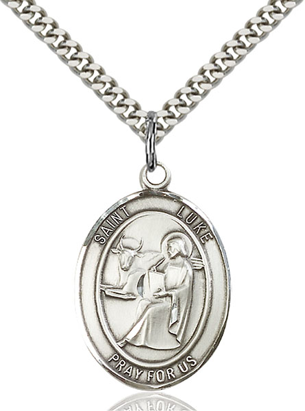 Sterling Silver St. Luke the Apostle Pendant