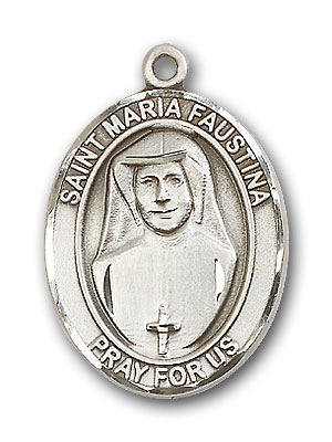 Sterling Silver St. Maria Faustina Pendant